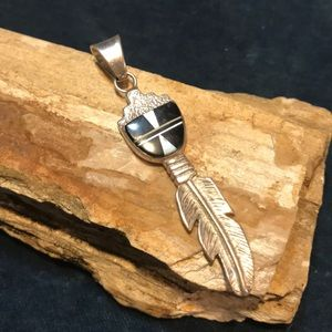 Jewelry - Native American Feather Pendant in Sterling